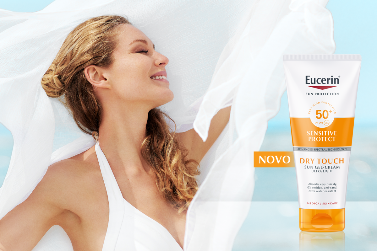Eucerin®SUN zaštita od sunca pruža trenutni osjećaj kože suhe na dodir